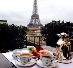 Tea time in Paris.