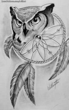 Back of shoulder tattoo, owl tattoo design, tattoo designs, tattoo th Owl Tattoo Drawings, Sketchbook Drawings, Bird Drawings, Colorful Drawings, Animal Drawings, Drawing Sketches, Atrapasueños Tattoo, Tattoo Bunt, Buho Tattoo