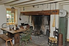 I love early kitchens with cooking fireplaces