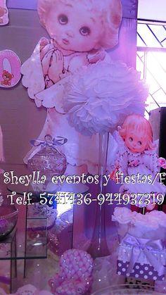 Centros de mesa Bautizo. Sheylla eventos y fiestas/facebook.    Telf. 5741436-944937319. Lima-Perú