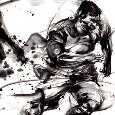 墨絵アートギャラリー   墨絵アーティスト、西元祐貴オフィシャルサイト China Style, China Fashion, Ink Painting, Japanese Art, Martial Arts, Samurai, Concept Art, Lord, Poses