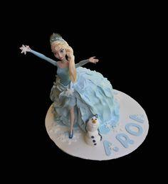 Tarta Frozen y Olaf de fondant