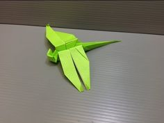How to make an origami dragonfly.
