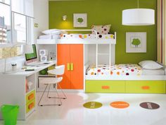 Customisable Staggered Bunk Beds with Wardrobe, Drawers & Desk - Trendy Products UK LTD