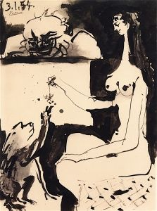 Woman and Monkey - Pablo Picasso - The Athenaeum