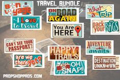 Travel Props  Vacation Prop Signs  Destination by PropShopPros