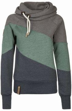 Tri-color comfy hoodie fashion | HIGH RISE FASHION
