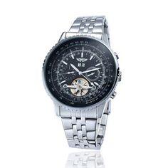 YAKI Elegante Klassische Mechanische Automatikuhr Automatik Armbanduhr Herrenuhr 1220-B