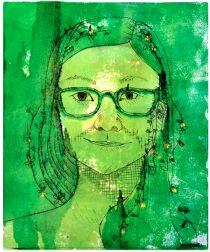Self-Portrait Monoprints Ink on paper 2011 July 29, 2012