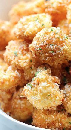 Parmesan Cauliflower Bites healthy side dish recipe