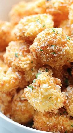 Parmesan Cauliflower Bites healthy side dish recipe