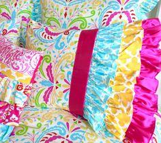 Designer Waterfall Pillow shams Ruffled by RitzyBabyOriginal
