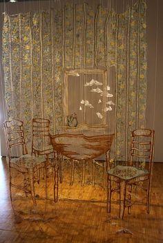 Amanda McCavour embroidery dissolved fabric