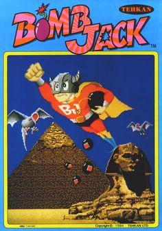Bomb Jack (1984) // retro poster arcade game