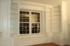 I love this window seat and bookcase built-in to the study, by K.G. Homepro