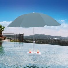Pool Buoy Floating Pool Umbrella - Backyard & Home - IntheSwim.com http://www.intheswim.com/p/pool-buoy-floating-pool-umbrella