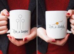 I'm a keeper, Im a catch. Harry Potter Coffee Mugs