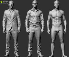 Hi, Having been a long time ZBrush artist in the Games/VFX industry, one thing that frustrated me was the lack of decent reference for clothes/wrinkles. Spending many hours trying to recreate convincing folds and materi… Zbrush, Character Modeling, 3d Character, Anatomy Reference, Drawing Reference, Human Reference, Reference Images, Free Characters, Anatomy Poses