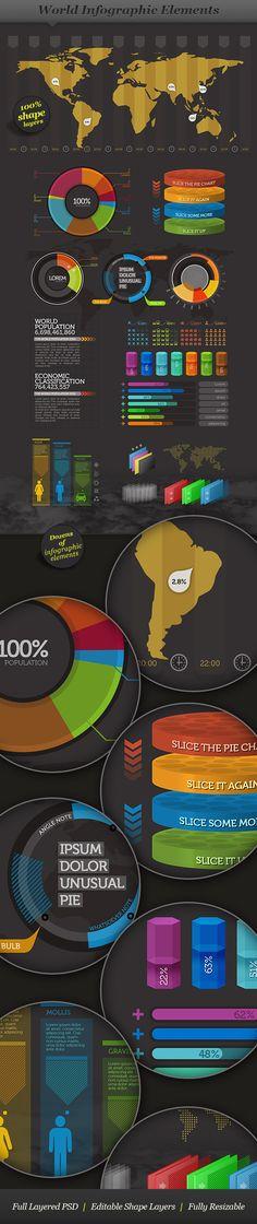 World - Infographic Elements by ranfirefly.deviantart.com on @deviantART