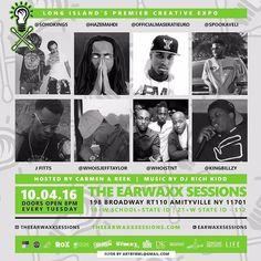 Catch us tonight at @theearwaxxsessions in Long Island NY.  @sohokings headlining  Host: @eyeduzdis Performing: @officialmaseratieuro @hazemahdi @spookaveli @whoisjefftaylor @wassupdoejfitts @whoistnt  @kingbillzy  Music: @djrichkidd