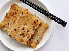 Turnip or Radish Cake with Chinese Sausages | Hong Kong Food Blog with Recipes, Cooking Tips mostly of Chinese and Asian styles | Taste Hong Kong