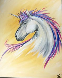 unicorn painting in acrylic on canvas by johnny mcnabb art pink rh pinterest com