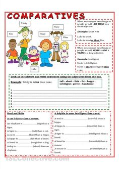 Comparative Worksheets Free #1
