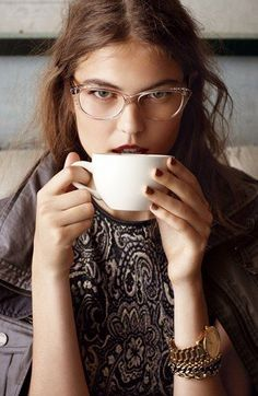 Clear frames & coffee.