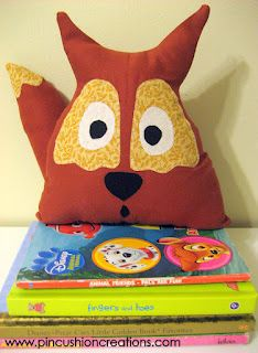 diy fox fabric bookend