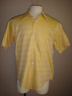 Vintage Mens Sport Shirt 1960s Van Heusen by decadencefashion