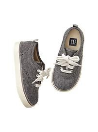Slub canvas sneakers $16.99 Gap