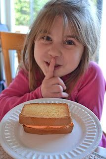 "Several April fools' pranks ~ including this ""grilled cheese sandwich"" that's really pound cake and frosting!"