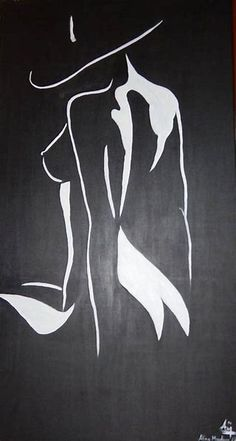 Black and white art on canvas painting big nude curvy woman original sexy diy Sexy Drawings, Pencil Drawings, Art Drawings, Alberto Giacometti, Black And White Painting, White Art, Black White, Big Canvas, Canvas Art
