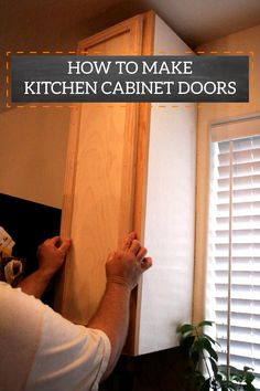 Instantly update your kitchen by making these cabinet doors. It's a great way to refresh the space without completely renovating it.