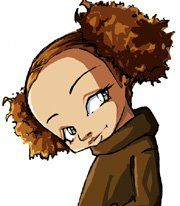 Jasmine DuBois of the Boondocks. Back when Aaron's strip was still in the Washington Post, I remember one ran where she spends all this time washing and straightening her curly locks, only to have them go POOF and curly back up in the final panel due to rain. *sigh* Oh Jasmine, I know your pain