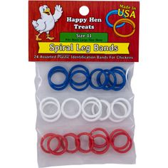 Check out these spiral legs bands for your chickens! They are like bling for your hens.