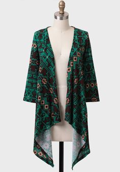 ... just stopped trying to tell myself that I don't want this? (because I do do do!) Journey's End Aztec Cardigan - shopruche