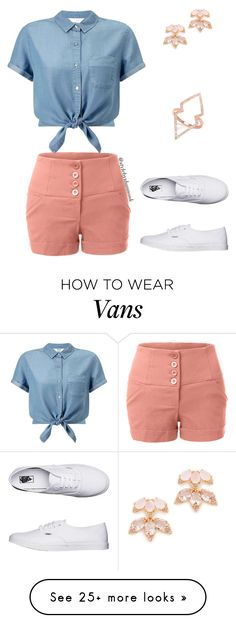 """""""Retro Summer"""" by style-by-shannon-leeper on Polyvore featuring LE3NO, Miss Selfridge, Vans and Kate Spade"""