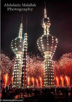 Fireworks in Kuwait, by Abdulaziz Malallah