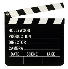 Hollywood Regieklappe, Filmklappe, Szeneklappe aus Holz ca. 18 x 20cm groß. mit…