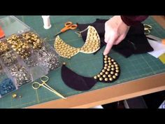 DISCLAIMER: I'm fairly obnoxious in this video, especially for the first 30-60 seconds, but it passes. But I'm really not THAT annoying, and I tone it down. K!    The video covers:    -Link to a pattern for a peter pan collar   -How to use studs with felt  -How to keep your studs evenly spaced  -How to attach a chain  -A whole lot of sassy crafty fun    F...