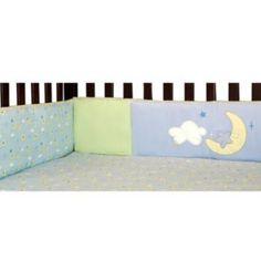 Pinwheel by Nojo  Alphabet Play 4-Piece Secure Me Crib Bumper Set NWT Teal White