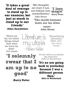 "I like the short Alice one...To live... ""Collection of Book Quotes by lesfleurspapier on Etsy, $0.99"