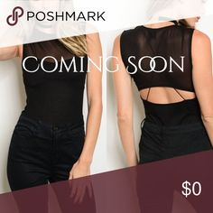 """SALE //LAST TWOSleeveless Mesh Bodysuit Reg Sale🌙 This is a beautiful lightweight bodysuit with a combination of ribbed and mesh detailing. It's slightly sheer, however the bust section has more coverage due to the mesh overlay. The material does feel great. It has a Side zipper, snap button enclosures, underneath strap detailing and with an open back.   Measurements (XS) L: 27"""" B: 25"""" W: 24"""" Material: POLYESTER & RAYON Fit: """"True to Size""""  ⚜️NO TRADES ⚜️NO RETURNS   ⚜️BOUTIQUE PRICES ARE…"""