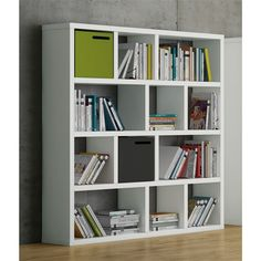 Berlin 4 Levels Shelving Units - The geometric design of the Berlin 4 Level Shelving Unit was created to easily blend into any living space or home office. Bookcase Storage, Cube Storage, Storage Boxes, Storage Spaces, Shelving Units, Grey Bookshelves, Library Bookshelves, Design Shop, Contemporary Bookcase