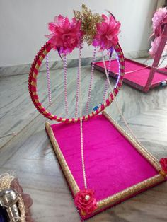 Wedding Gift Hampers, Wedding Gift Boxes, Bridal Gift Wrapping Ideas, Diy Popsicle Stick Crafts, Indian Wedding Gifts, Diy Diwali Decorations, Gift Wraping, Diy Crafts For Gifts, Wedding Crafts