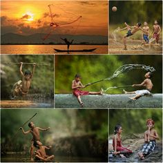 Herman Damar, a self-taught Indonesian photographer, takes photos of villagers near Jakarta that are quite good.They'rekind of Lord ...