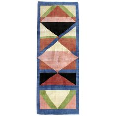 Vintage Persian Kashan Modernist Rug | From a unique collection of antique and modern persian rugs at https://www.1stdibs.com/furniture/rugs-carpets/persian-rugs/