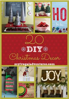 DIY Christmas decor- 20 fun ideas!