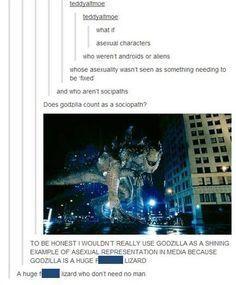 Godzilla for Asexual Representation in Media